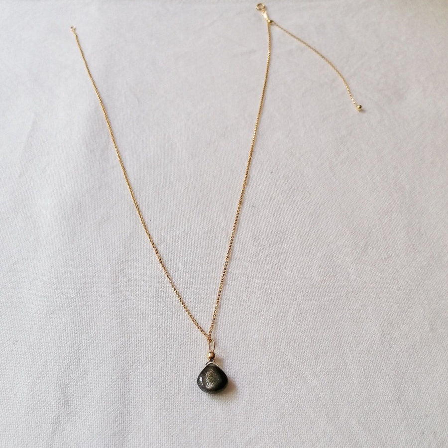 Gold Sheen Moonstone Isla Pendant in Gold Necklaces Sayulita Sol 14kt Gold Fill Adjustable Chain +$85
