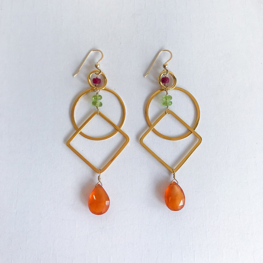 Isabel Verano Earrings in Gold - Sayulita Sol Jewelry
