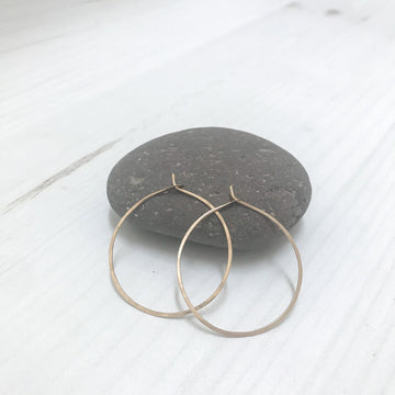 Kasia Earrings, Gold Fill 40mm - Sayulita Sol Jewelry