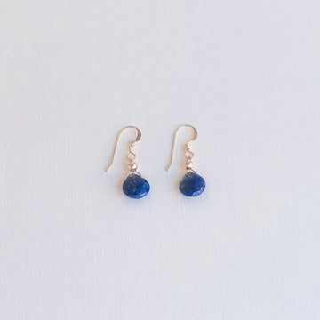 Lapis Lazuli Isla Earrings in Gold Earrings Sayulita Sol Jewelry