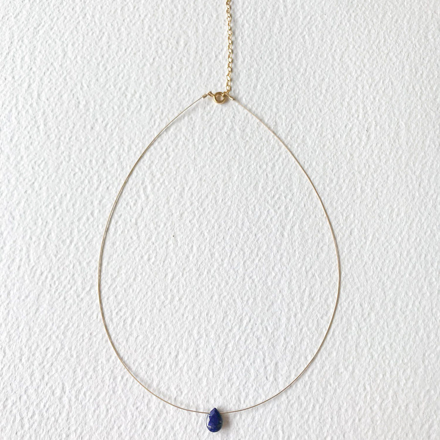 Luna Lapis Lazuli and Gold Necklace - Sayulita Sol Jewelry