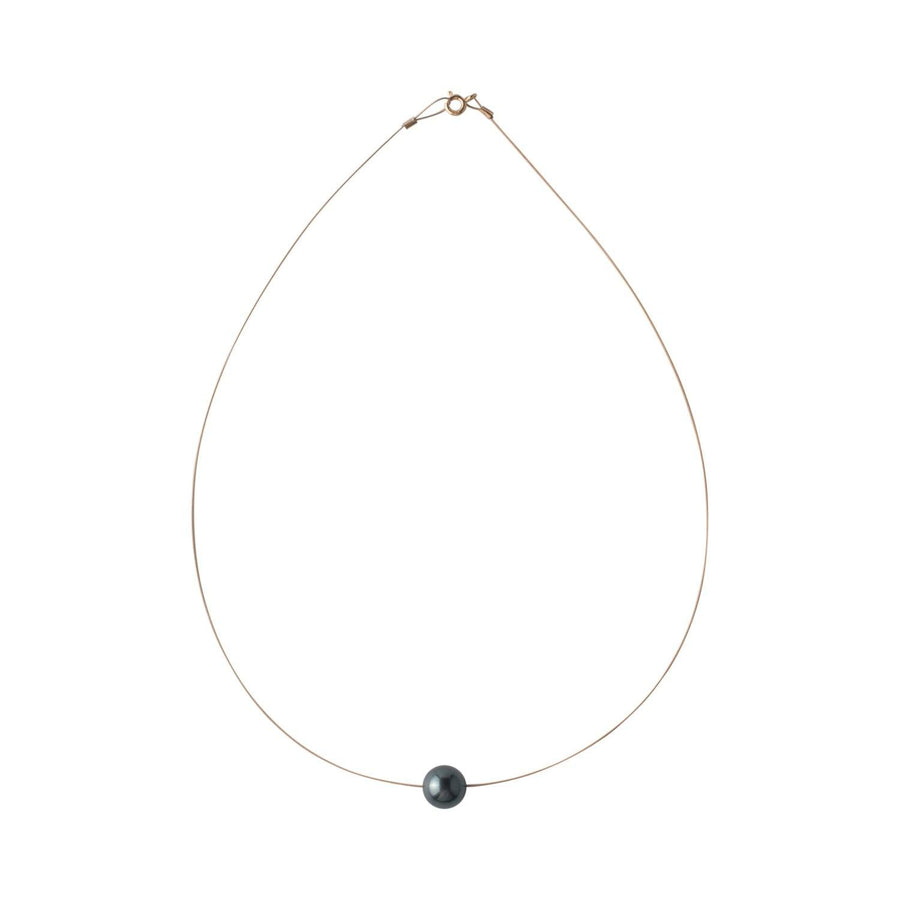 Luna Necklace, Swarovski Black Pearl 10mm - Sayulita Sol Jewelry
