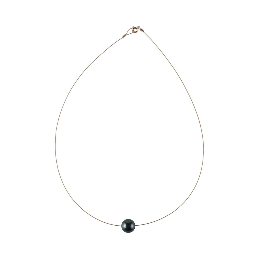 Luna Necklace, Swarovski Black Pearl 12mm - Sayulita Sol Jewelry
