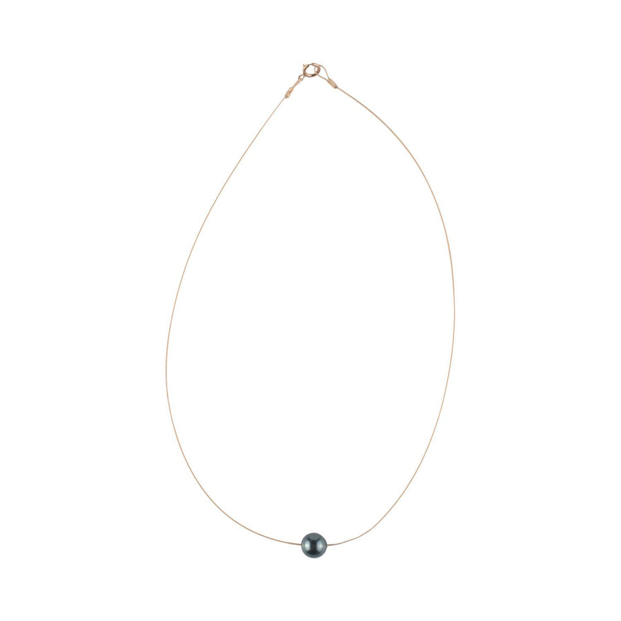 Luna Necklace, Swarovski Black Pearl 8mm - Sayulita Sol Jewelry
