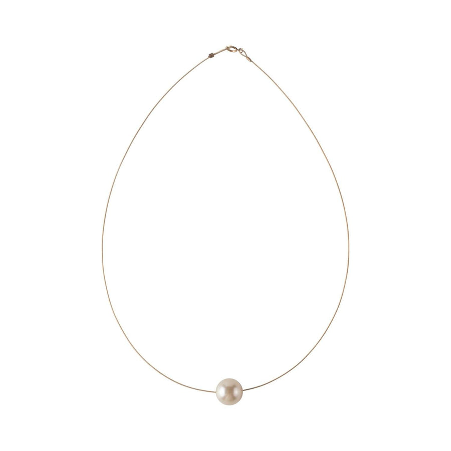 Luna Necklace, Swarovski Cream Pearl 10mm - Sayulita Sol Jewelry