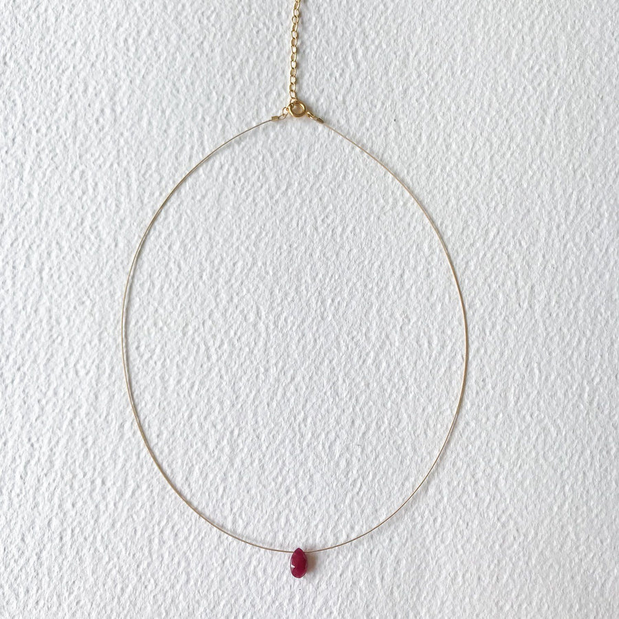 Luna Ruby and Gold Necklace - Sayulita Sol Jewelry