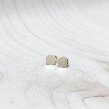 Luna Silver Stud Earrings - Sayulita Sol Jewelry