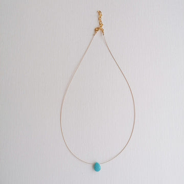 Luna Turquoise and Gold Necklace Necklaces Sayulita Sol Jewelry