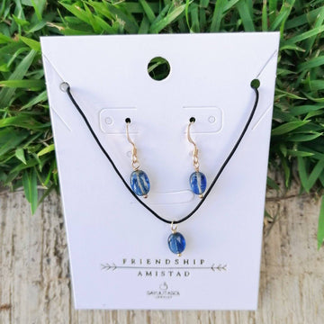 Maia Friendship Set, Kyanite in Gold Set Sayulita Sol Jewelry