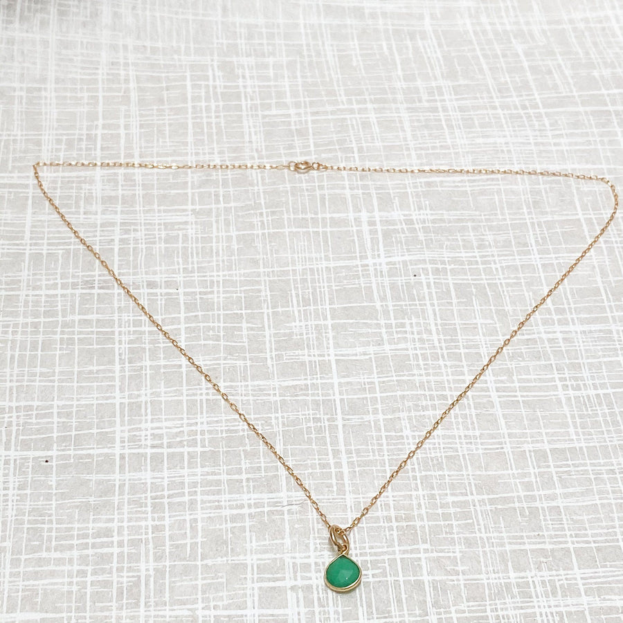Margo Chrysoprase Pendant in Gold - Sayulita Sol Jewelry