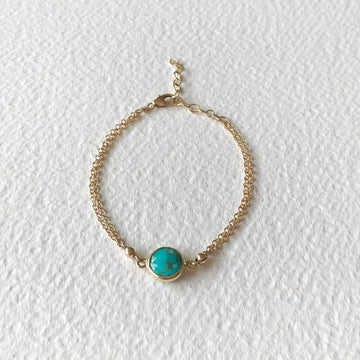 Margo Turquoise and Gold Bracelet - Sayulita Sol Jewelry