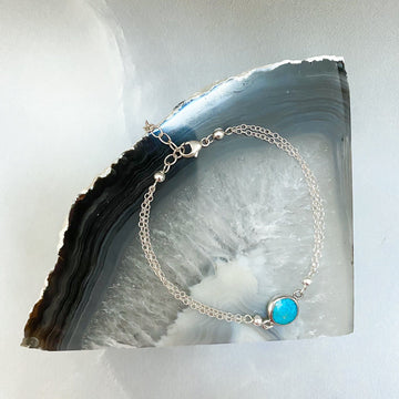 Margo Turquoise and Silver Bracelet - Sayulita Sol Jewelry