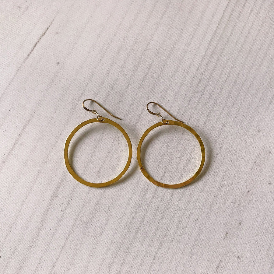 Ola 30mm Hoop, Gold Plated - Sayulita Sol Jewelry