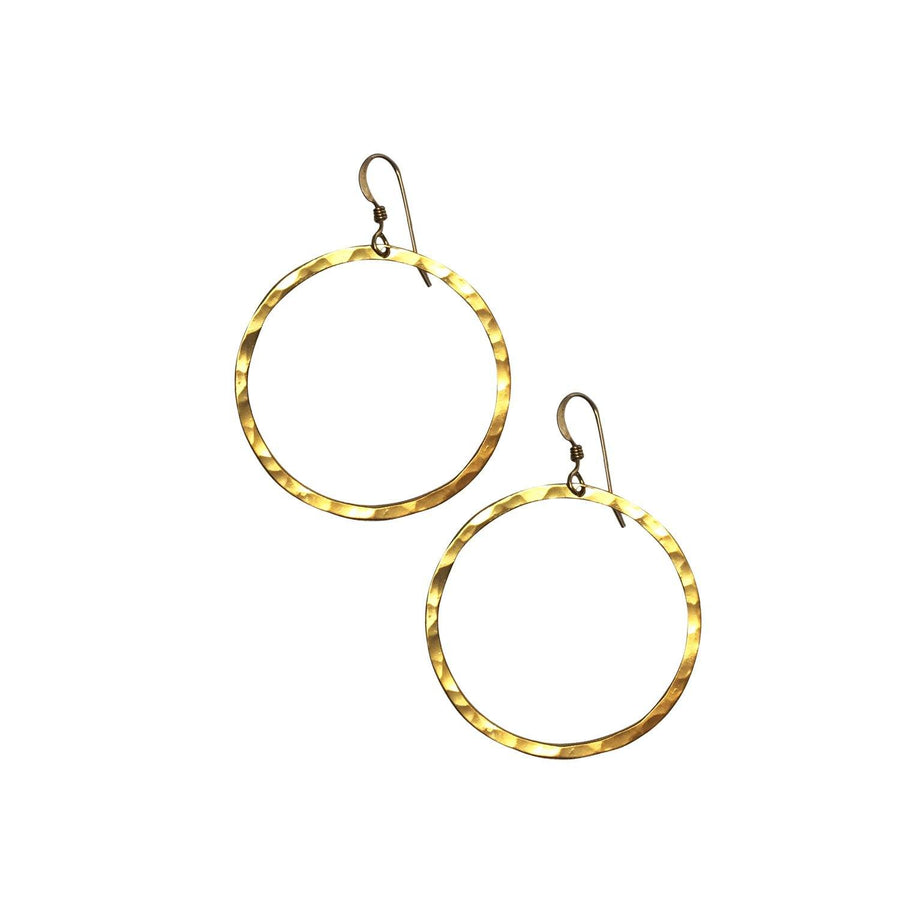 Ola 35mm Hoops, Gold - Sayulita Sol Jewelry