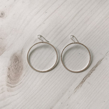 Ola 45mm Hoop, Sterling Silver - Sayulita Sol Jewelry