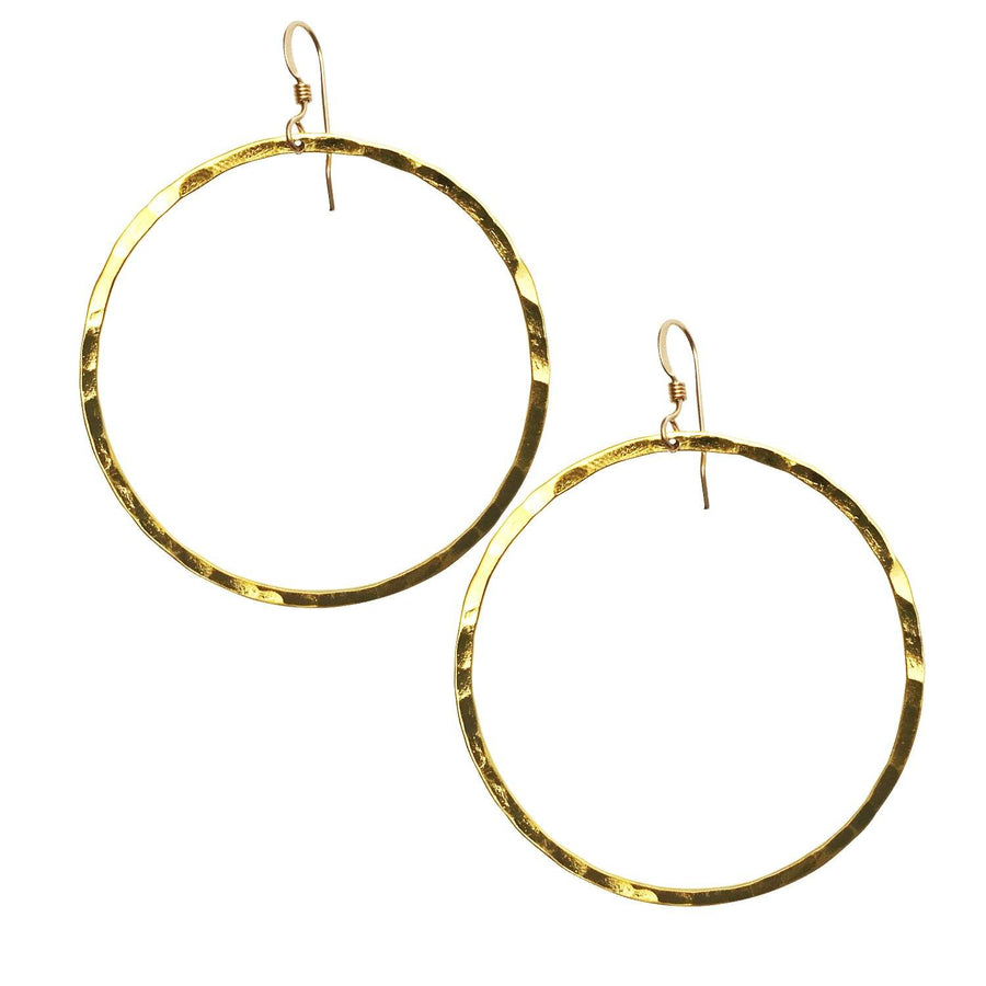 Ola Hoops, 55mm Gold Vermeil - Sayulita Sol Jewelry