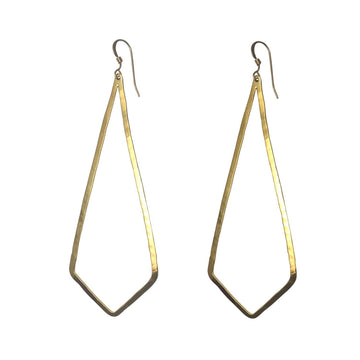 Ola Hoops, Gold-Plated Chevron - Sayulita Sol Jewelry