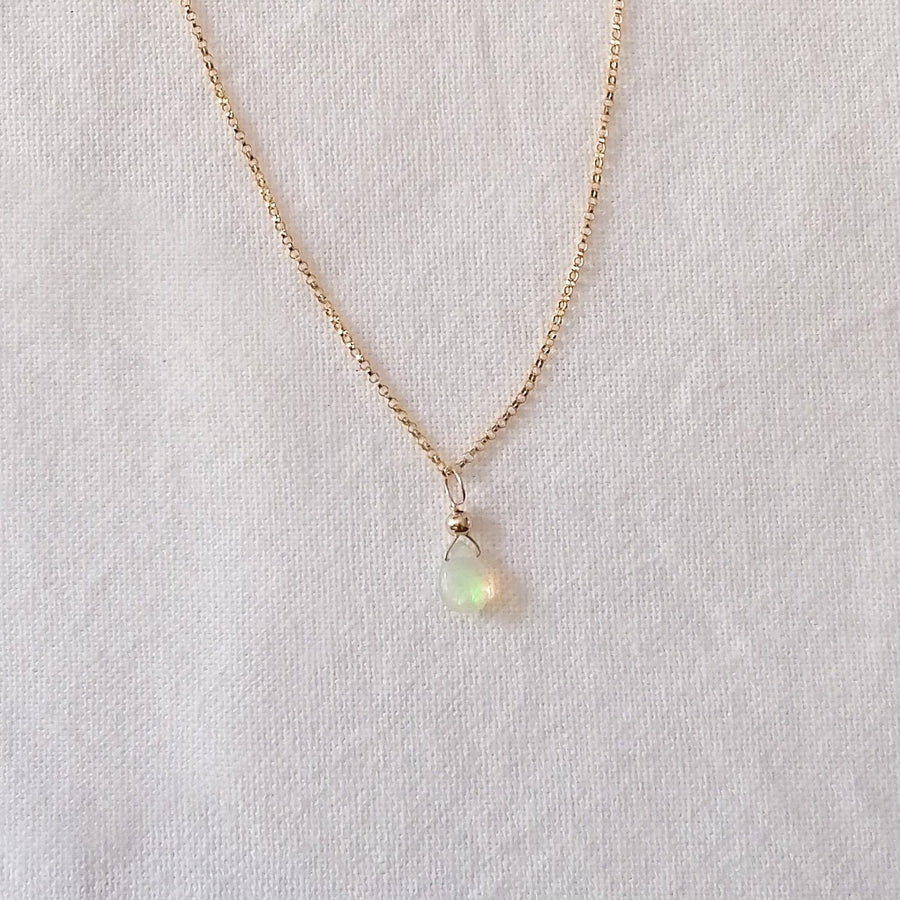 Opal Isla Pendant in Gold Necklaces Sayulita Sol