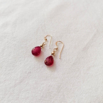 Ruby Isla Earrings in Gold Earrings Sayulita Sol Jewelry