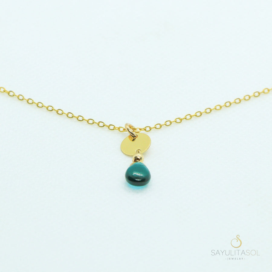 Sol Pendant with Blue Quartz in Gold Necklaces Sayulita Sol Jewelry 16