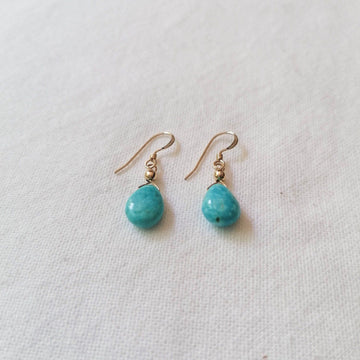 Turquoise Isla Earrings in Gold Earrings Sayulita Sol Jewelry