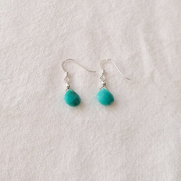 Turquoise Isla Earrings in Silver Earrings Sayulita Sol Jewelry