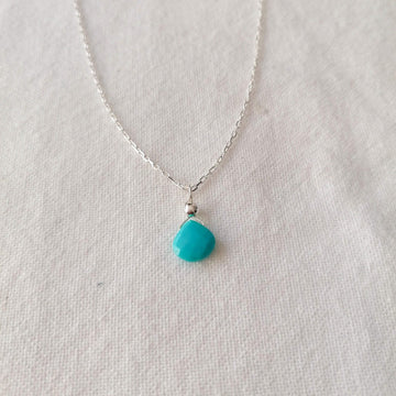 Turquoise Isla Pendant in Silver Necklaces Sayulita Sol