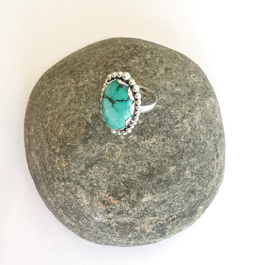 Vintage Turquoise and Silver Ring, Small - Sayulita Sol Jewelry