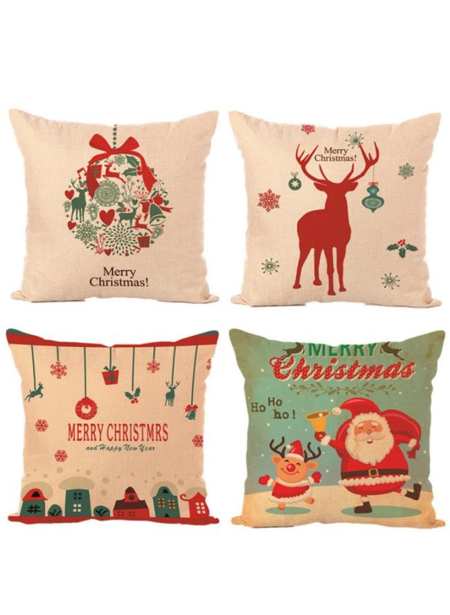 Christmas Pillow Case Set of 4 18