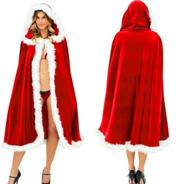 Female Christmas Cloak Costume Long Sleeve Shawl - Zebrant