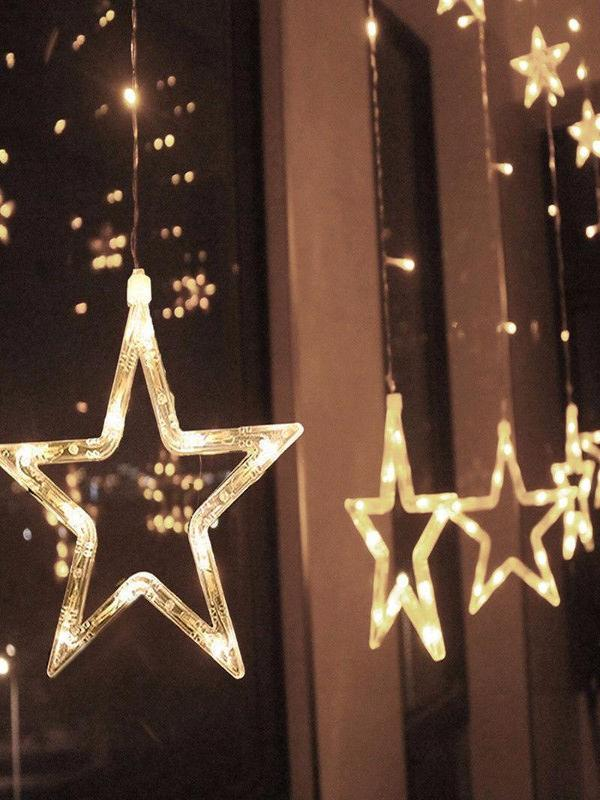 Christmas New Year or Party Star Decoration Lighting Garland - Zebrant