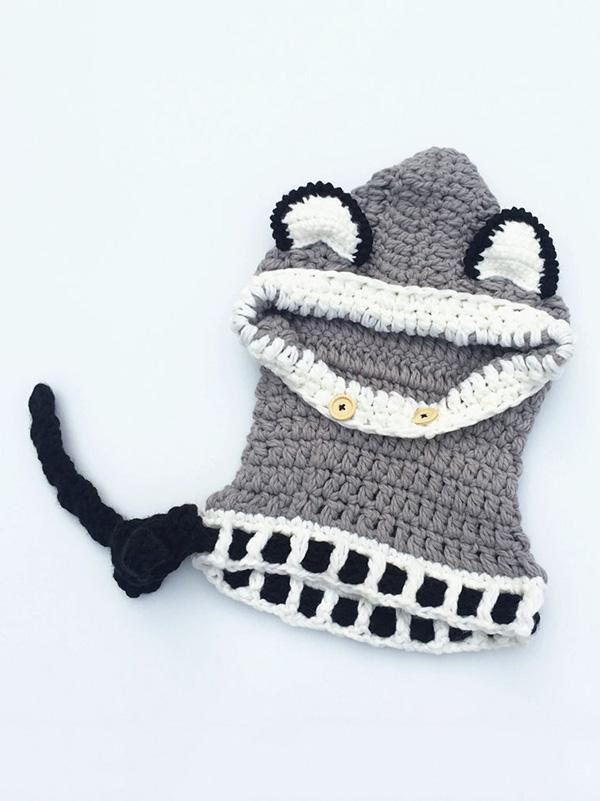 Knitted Fox Featured Warmer Hat - Zebrant