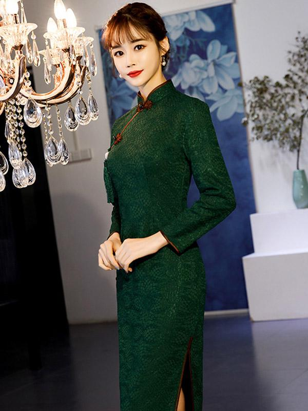 Elegant Slim Split-joint Long Cheongsam - Zebrant
