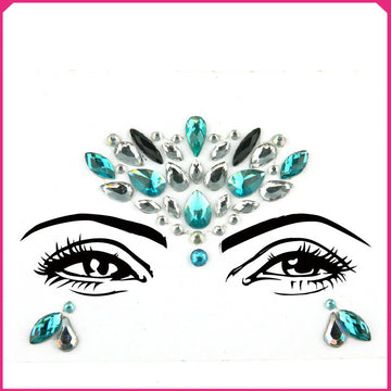 Rhinestone Crystal Face Jewels for Christmas Party Festival