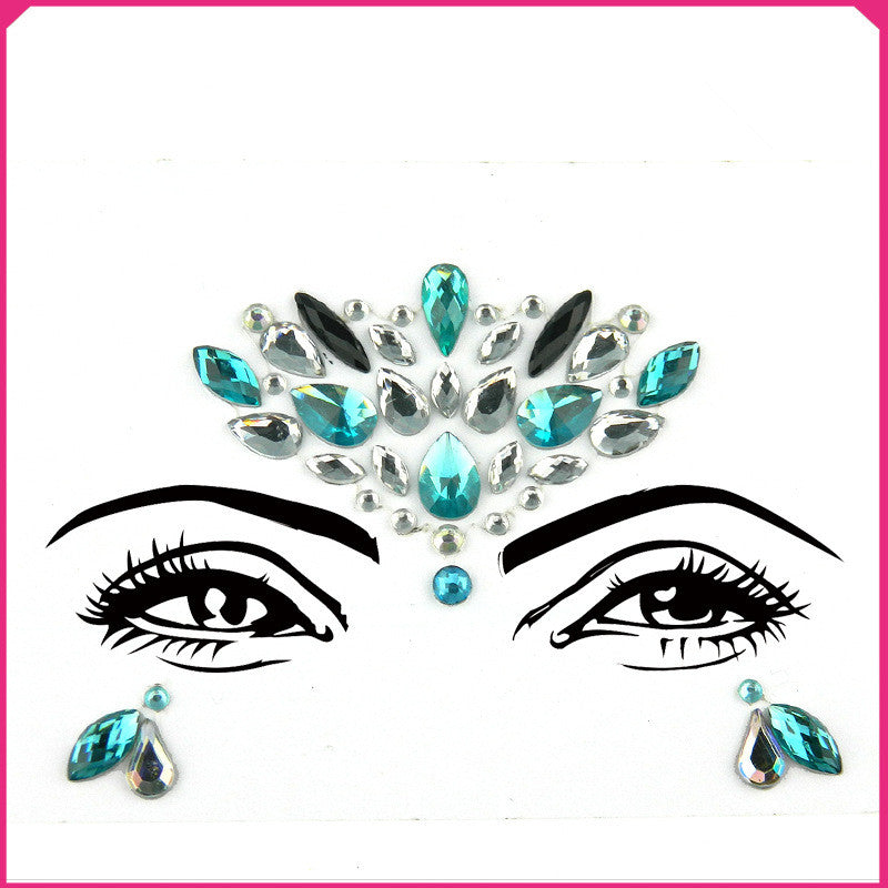 Rhinestone Crystal Face Jewels for Christmas Party Festival - Zebrant