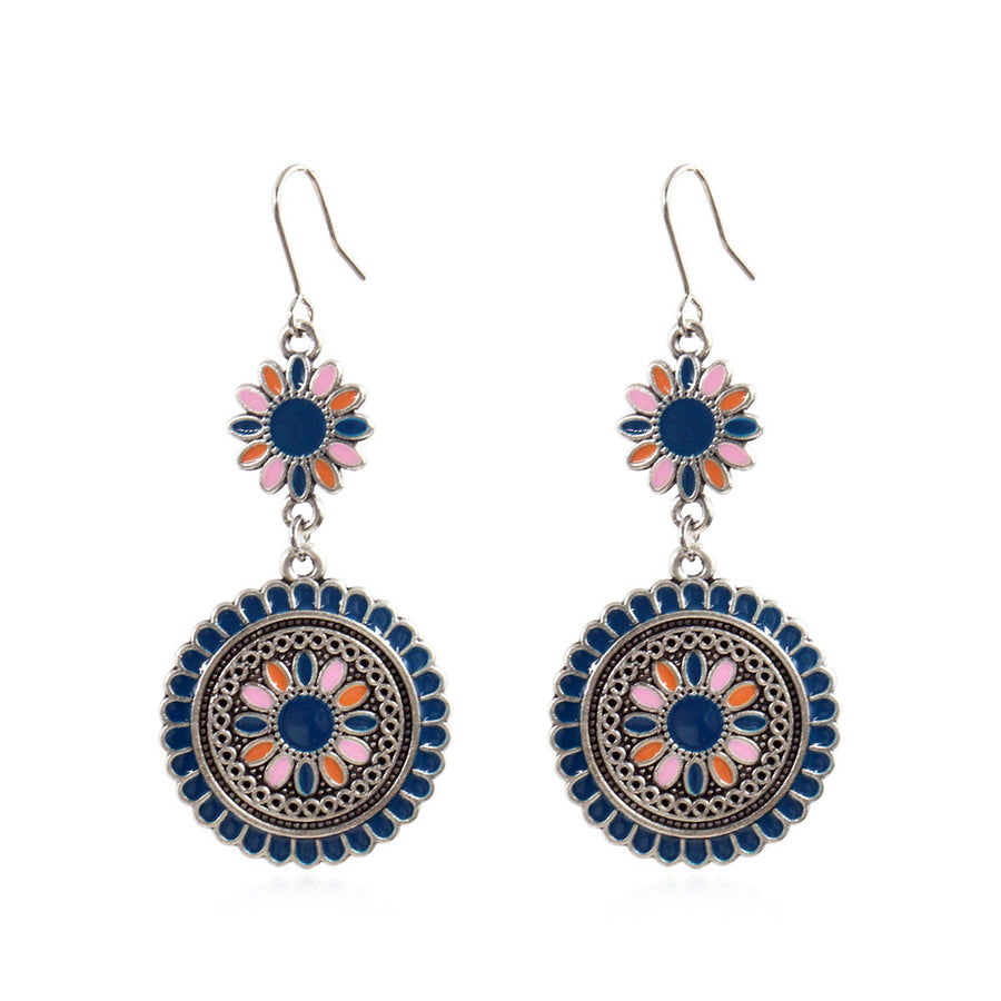 Round flower fashion small fresh Earrings Wholesale - Zebrant