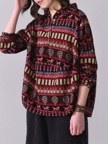 Casual National Printed Shirt - Zebrant
