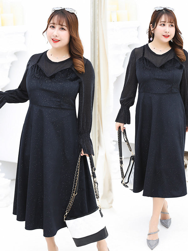 LOOSE CHUBBY GIRL FALSE-TWO ELEGANT LONG DRESS - Zebrant
