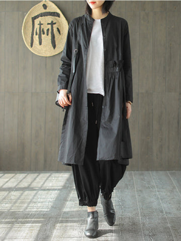 Casual Solid Ruffled Cardigan Outwears