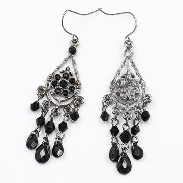 Bohemian tassel trend hollow black Earrings Wholesale - Zebrant