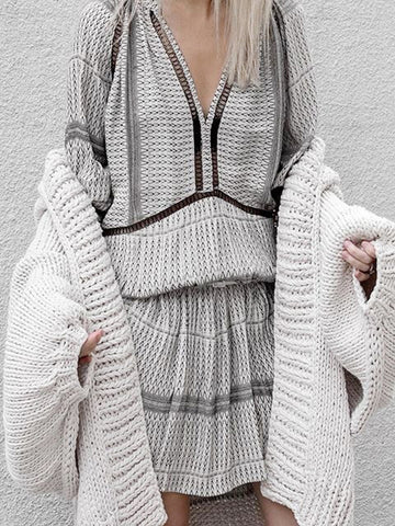 New Loose Knitting Outwear - Zebrant