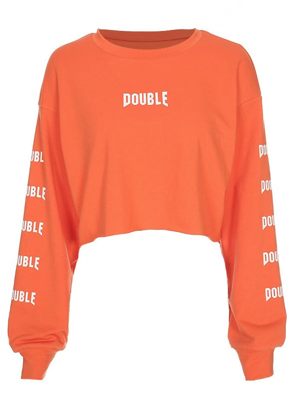 Orange Pullover Sports Sweatshirt ACTIVE WEAR - Zebrant