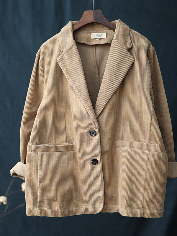 VINTAGE SOLID CORDUROY SUIT OUTWEARS - Zebrant