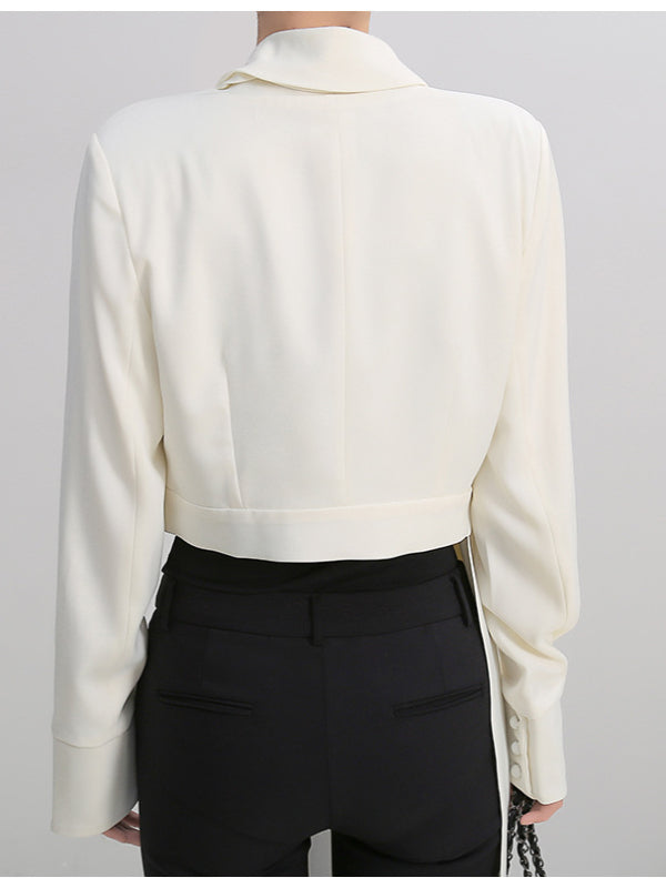 Minority Design Cropped Shirt - Zebrant