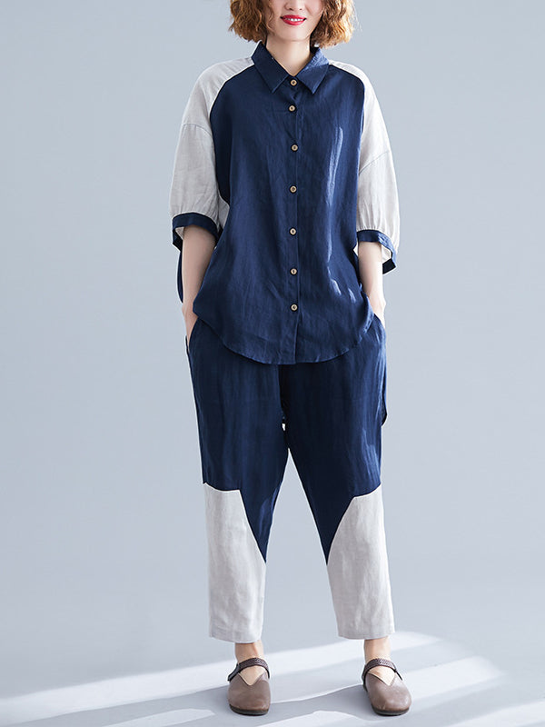 Casual Split-joint Shirt&Pants Suits - Zebrant
