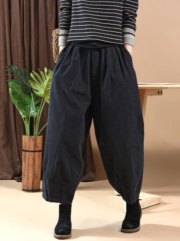 LOOSE SOLID BLOOMERS PANTS - Zebrant