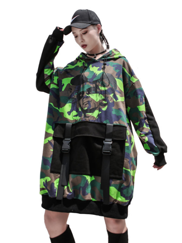 Casual Camouflage Printed Hoodies - Zebrant