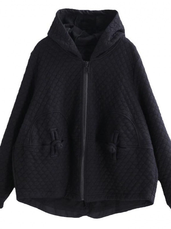 CASUAL A-LINE HOODED OUTWEAR - Zebrant