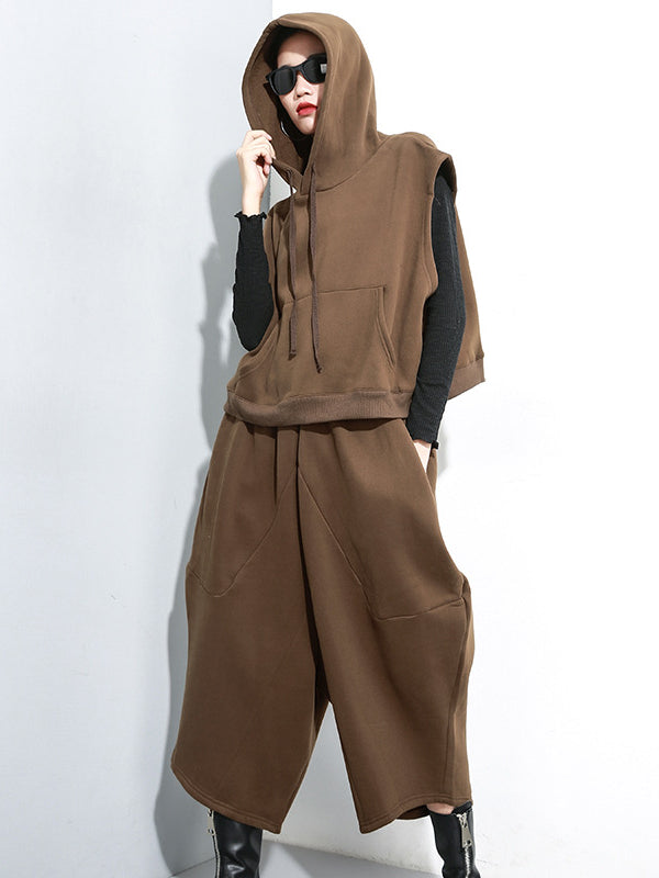 Casual Solid Hoodie&Pants Suits - Zebrant