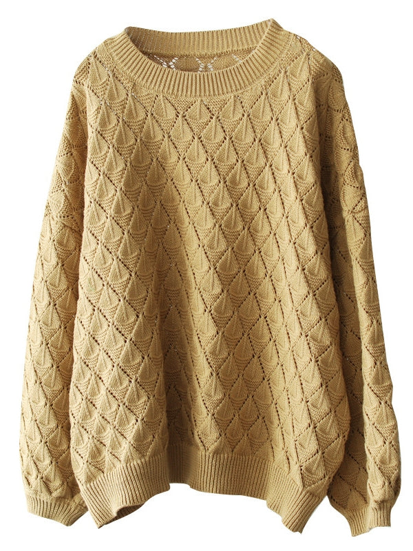 Retro Pure Color Sweater - Zebrant